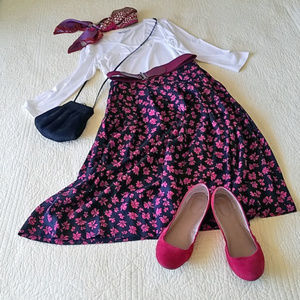 Dresses & Skirts - Vintage Pendleton rayon floral skirt